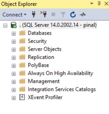 SQL SERVER - SQL Server Agent Missing in SQL Server Management Studio (SSMS) agt-miss-01