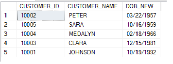 SQL Server - Formatted Date and Alias Name in ORDER BY Clause alias_result3