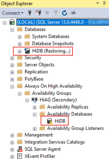 SQL SERVER - AlwaysOn Automatic Seeding - Database Stuck in Restoring State ao-seed-err-02