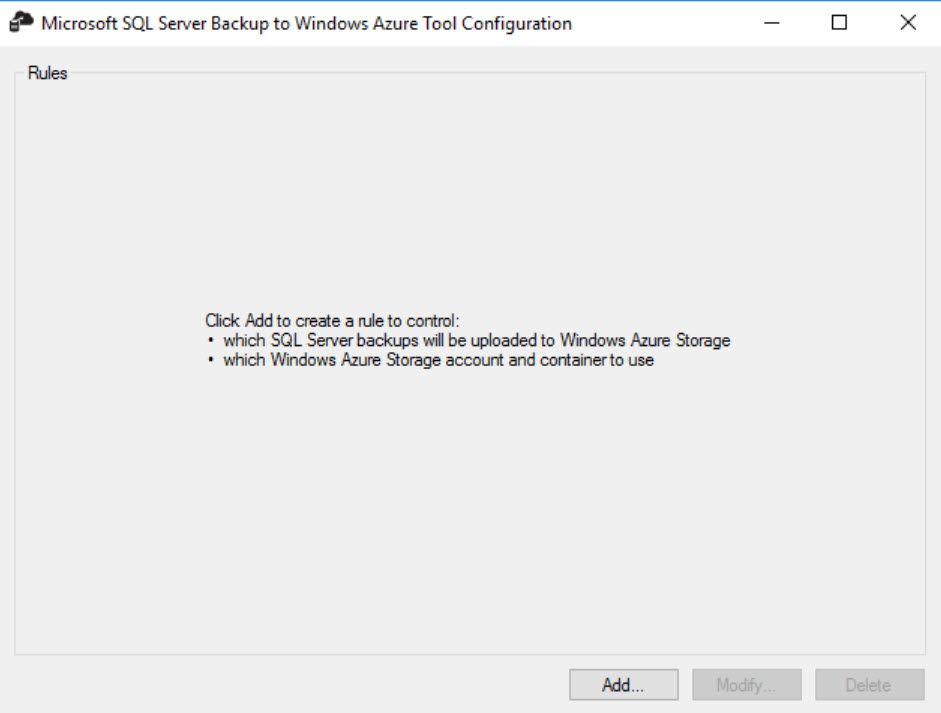 SQL SERVER - Backup to Microsoft Azure Tool - ERROR: Account Verification Failed az-err-01