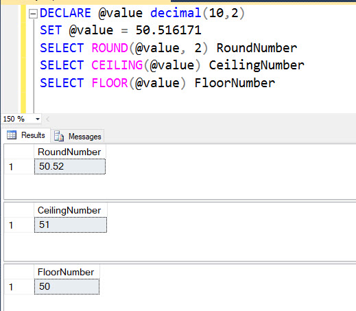How to Round Up or Round Down Number in SQL Server? - Interview Question of the Week #125 ceiling-floor