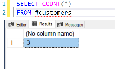 SQL SERVER - COUNT, FROM and a Query - Interesting Observation count1