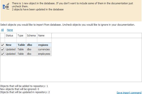 SQL SERVER - New Quality of Database Documentation - Dataedo dataed_schema_update