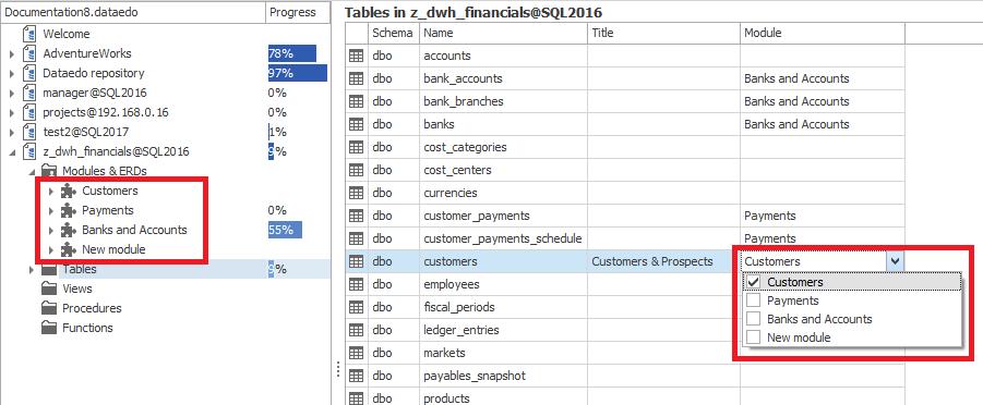 SQL SERVER - New Quality of Database Documentation - Dataedo dataedo_modules