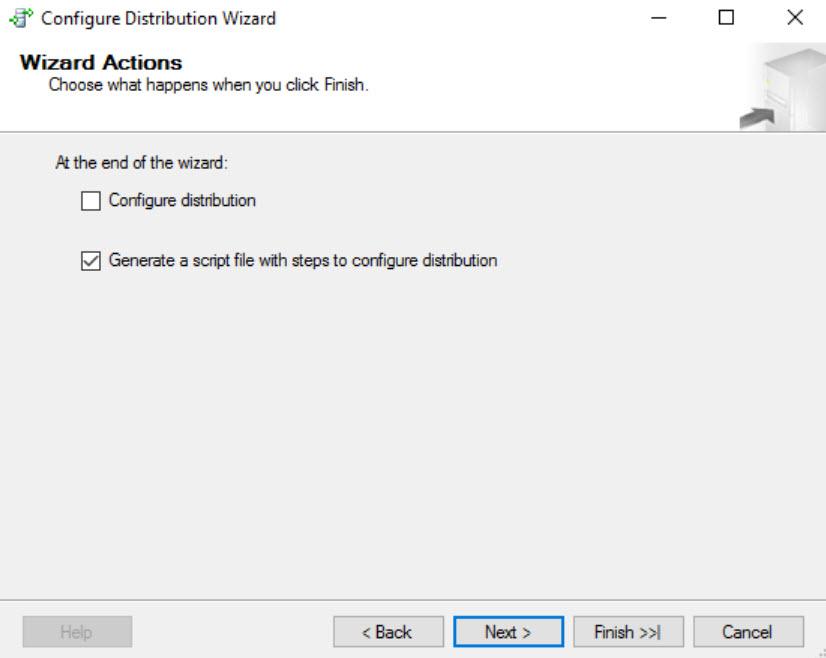 SQL SERVER - FIX: Unable to Create Distribution Database on a UNC Share - Configure Distribution distdb-unc-03