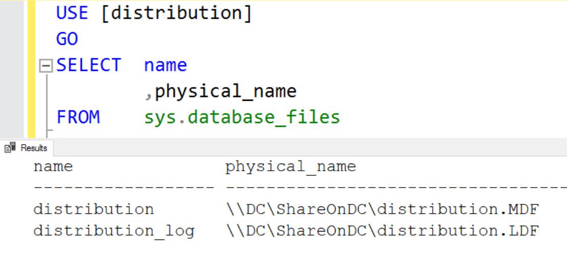 SQL SERVER - FIX: Unable to Create Distribution Database on a UNC Share - Configure Distribution distdb-unc-04