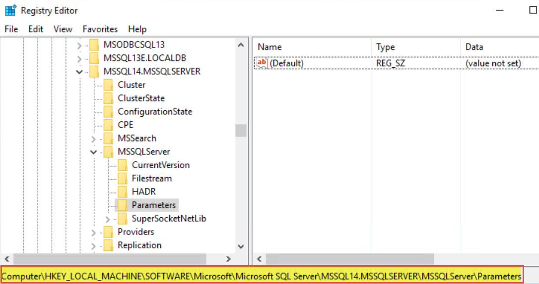 Sql Server Empty Startup Parameter In Sql Cluster On One Node