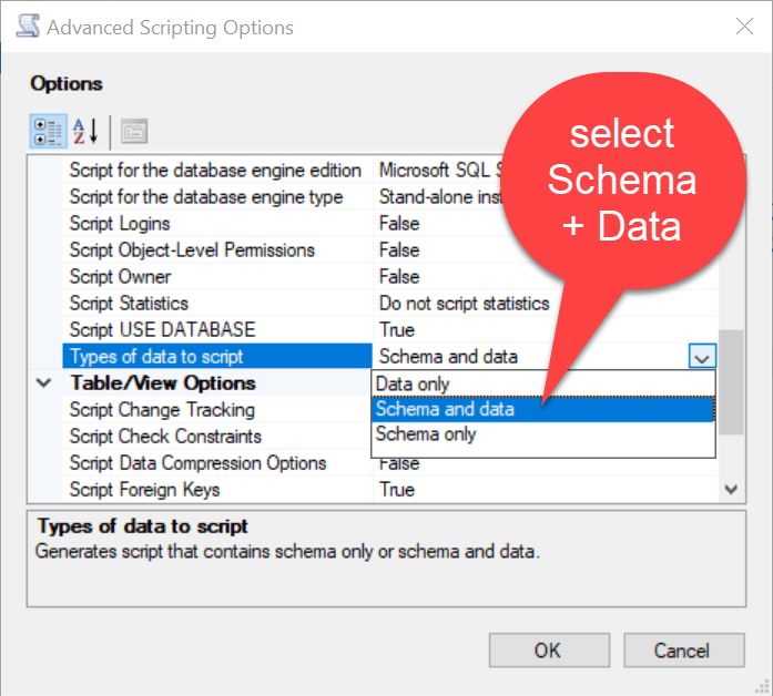 SQL SERVER - Restoring SQL Server 2017 to SQL Server 2005 Using Generate Scripts genscript5