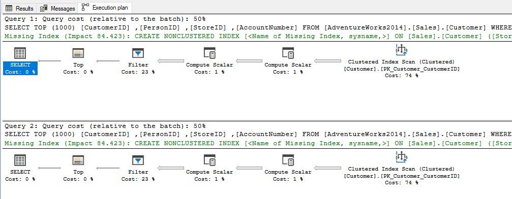 SQL SERVER - Performance Comparison IN vs OR inor1
