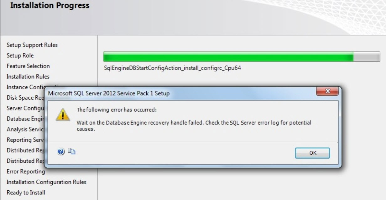 SQL SERVER - SQL Installation fails with error code 0x851A001A - Wait on the Database Engine recovery handle failed install-dc-01