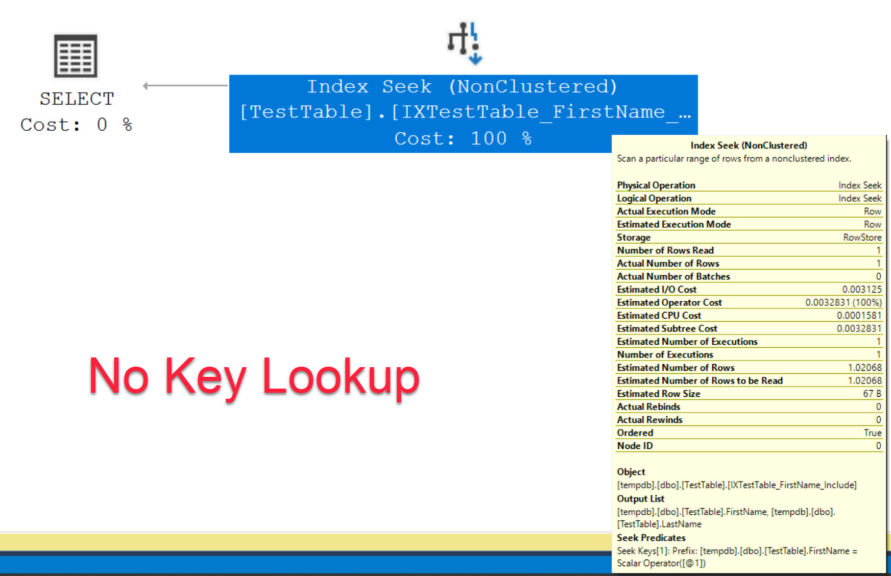 SQL SERVER - Optimize Key Lookup by Creating Index with Include Columns keylookup2