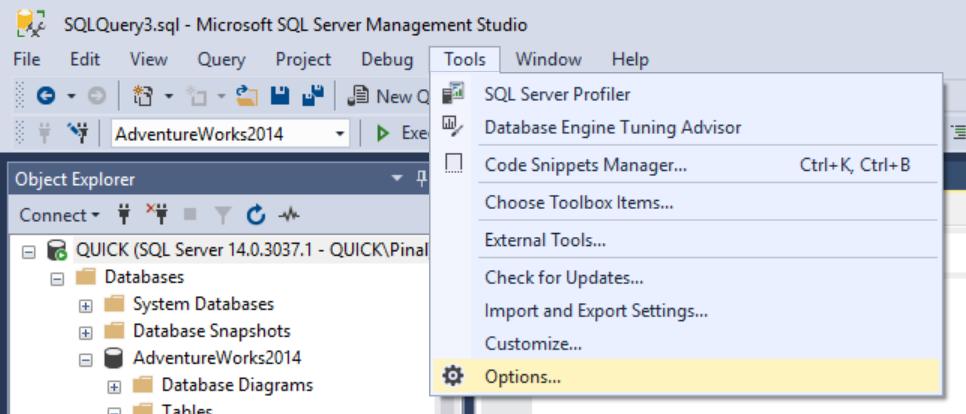 SQL SERVER - SSMS - Enable Line Numbers in SQL Server Management Studio linenumber2