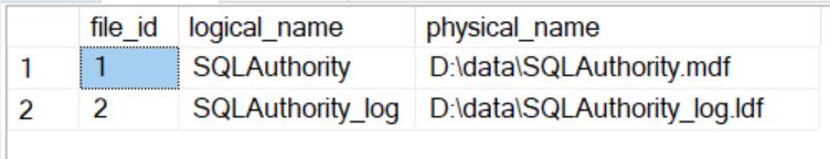SQL SERVER - Rename Logical Database File Name for Any Database logicalrename1