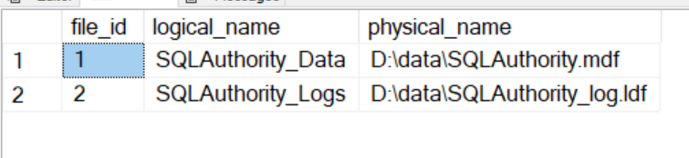 SQL SERVER - Rename Logical Database File Name for Any Database logicalrename2