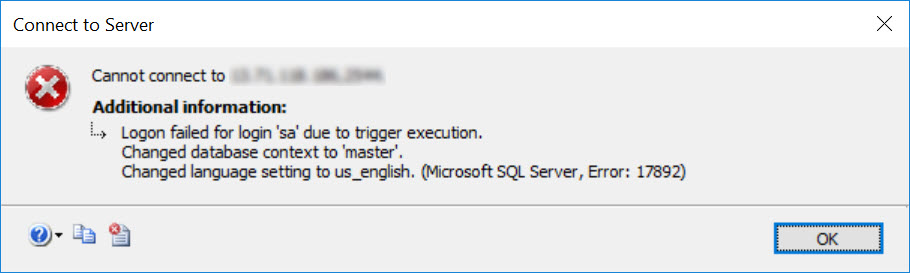 SQL SERVER - Be Careful with Logon Triggers - Don't use Host_Name logon-trig-01