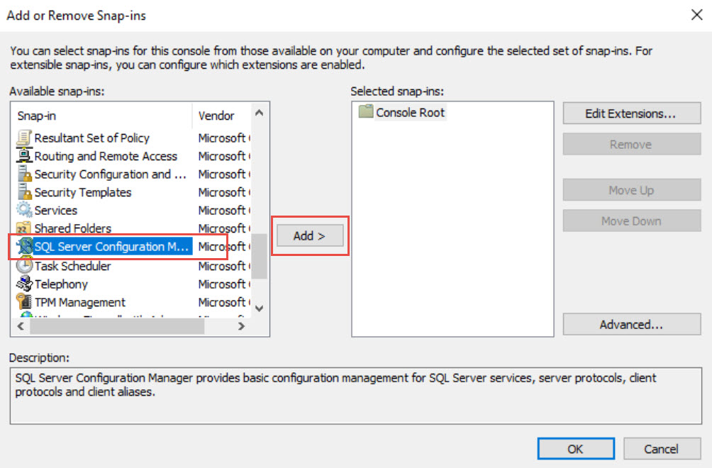 SQL SERVER - Unable to See SQL Server Configuration Manager. How to Open it? mmc-snapin-02
