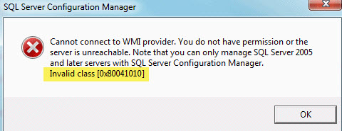 SQL SERVER - Configuration Manager - Cannot Connect to WMI Provider. You Do Not Have Permission or The Server is Unreachable mof-comp-01