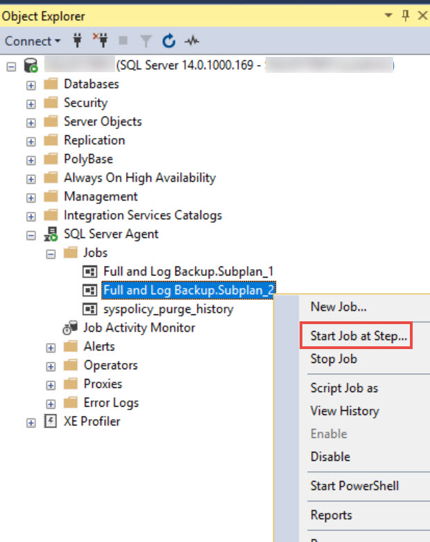 SQL SERVER - Execution Failed. See the Maintenance Plan and SQL Server Agent Job History Logs for Details mp-subplan-err-04