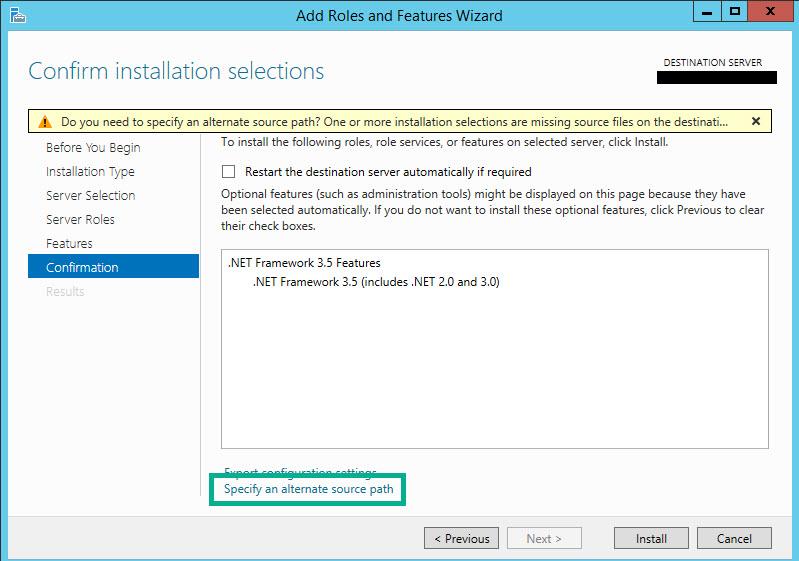 SQL SERVER - Error While Enabling Windows Feature: NetFx3, Error Code: 2146498298 netfx3-05