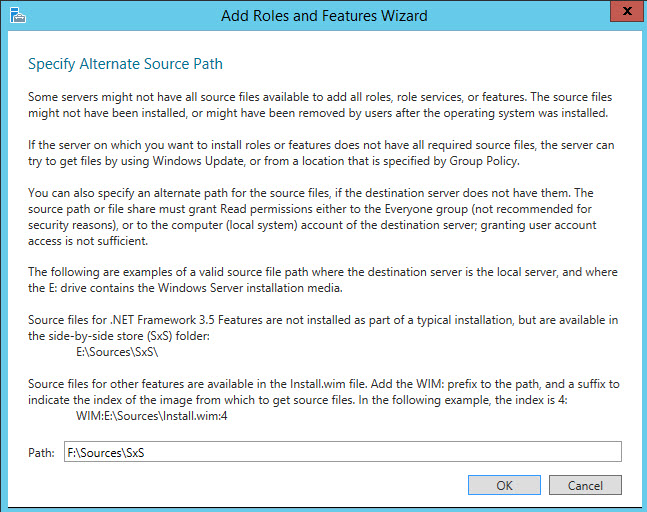 SQL SERVER - Error While Enabling Windows Feature: NetFx3, Error Code: 2146498298 netfx3-06