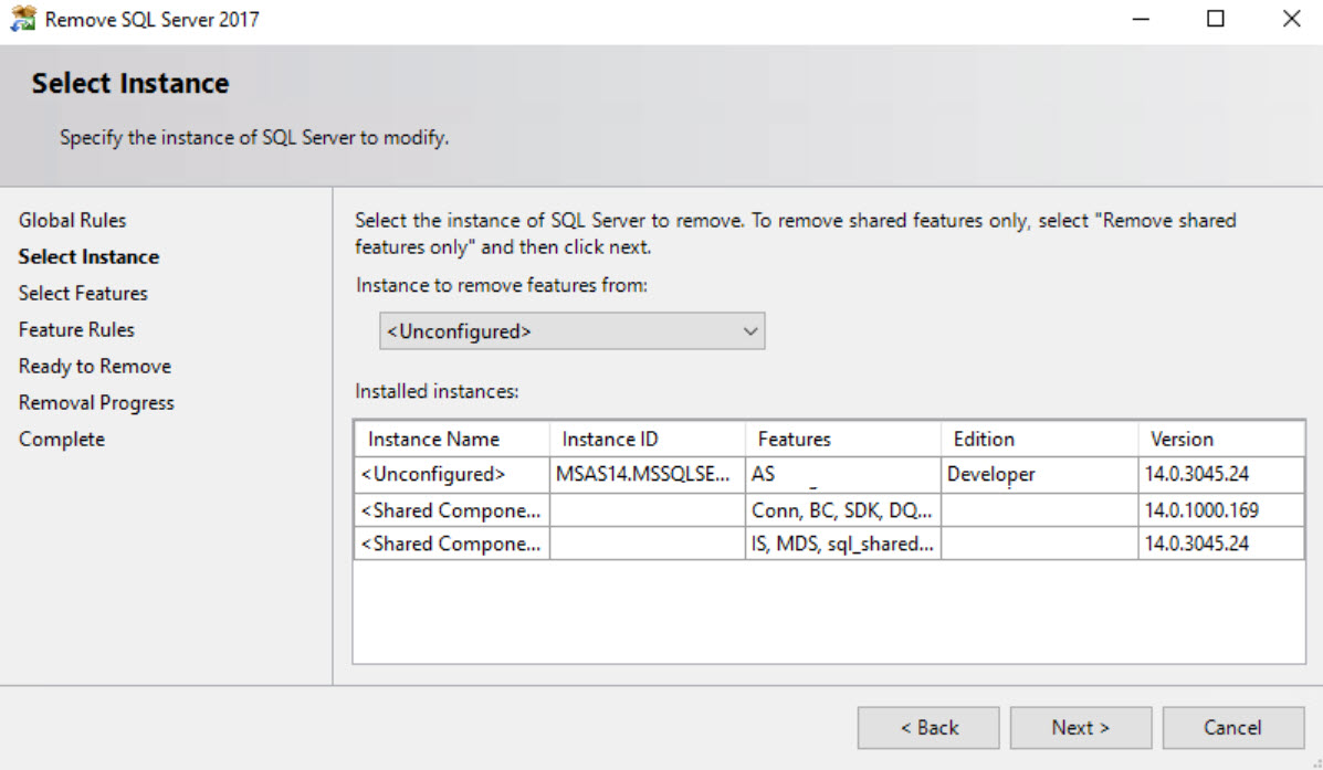 SQL SERVER - Unable to Uninstall - Index was Outside the Bounds of the Array out-of-bound-02