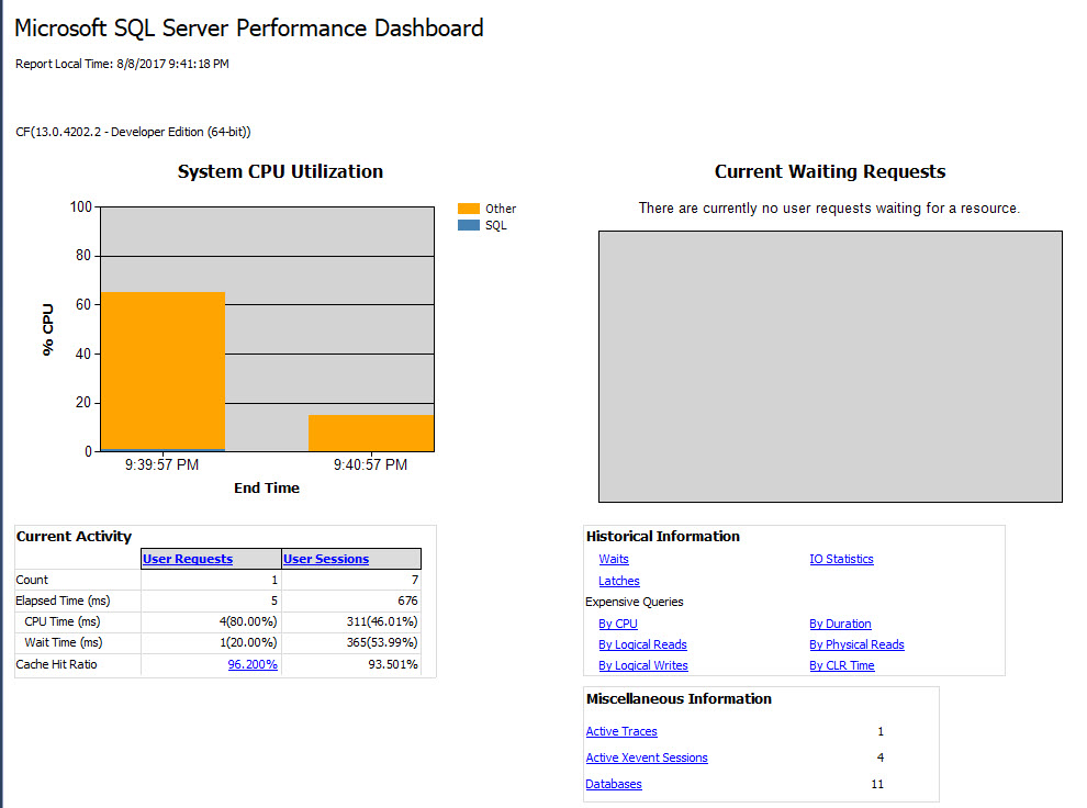 SQL Download - SQL Server Management Studio (SSMS) - Performance Dashboard performancedashboard2