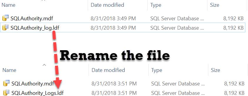 SQL SERVER - Rename Physical Database File Name for Any Database physicalrename2