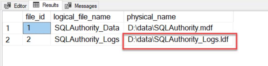SQL SERVER - Rename Physical Database File Name for Any Database physicalrename3
