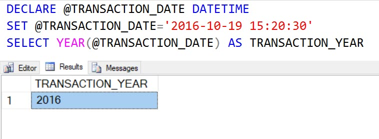 SQL SERVER - Puzzle - How Does YEAR Function Work? puzzleyear