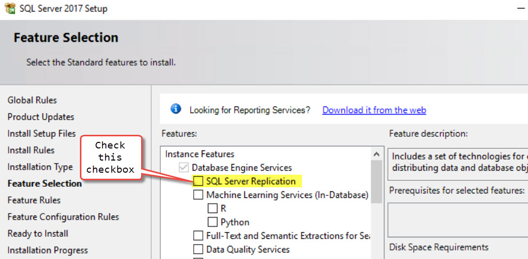 SQL SERVER - Error 21028 : Replication Components are not