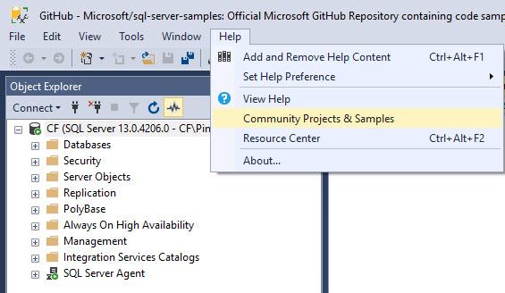 SQL SERVER - How to Get Updated Link for Code and Database Samples? sampledatabases