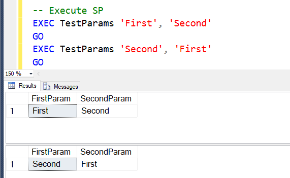 SQL SERVER - How to Pass Parameters to the Stored Procedure? sp1