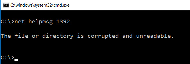 SQL SERVER - Unable to recycle Errorlog - sp_cycle_errorlog - OS  error 1392 sp_cycle-err-01