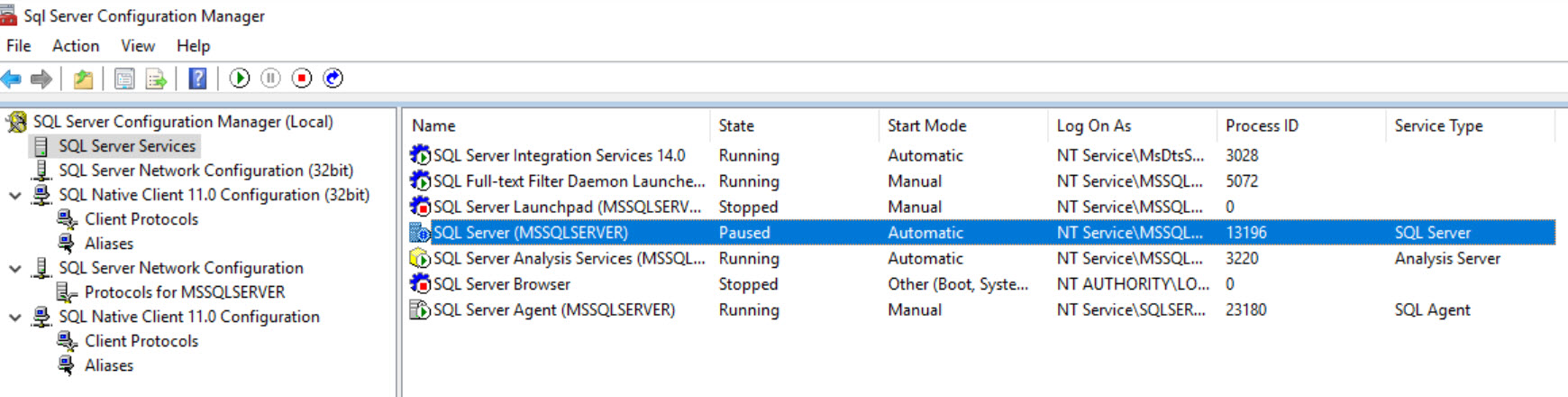 SQL SERVER - Error: 17142 - SQL Server Service has Been Paused. No New Connections Will be Allowed sql-pause-02