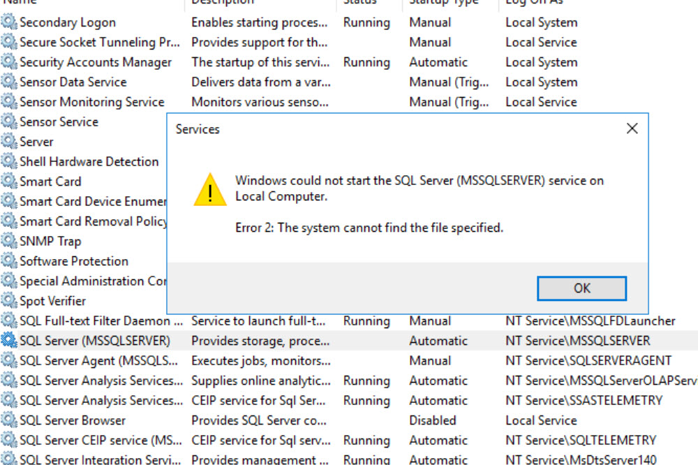 SQL SERVER - SQL Service Not Starting in Cluster- The System Cannot Find the File Specified sql-startup-err02-01