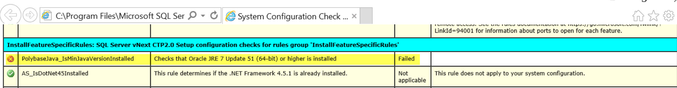 SQL SERVER 2019 - Oracle JRE 7 Update 51 (64 Bit) or Higher is Required sql19-jre-02