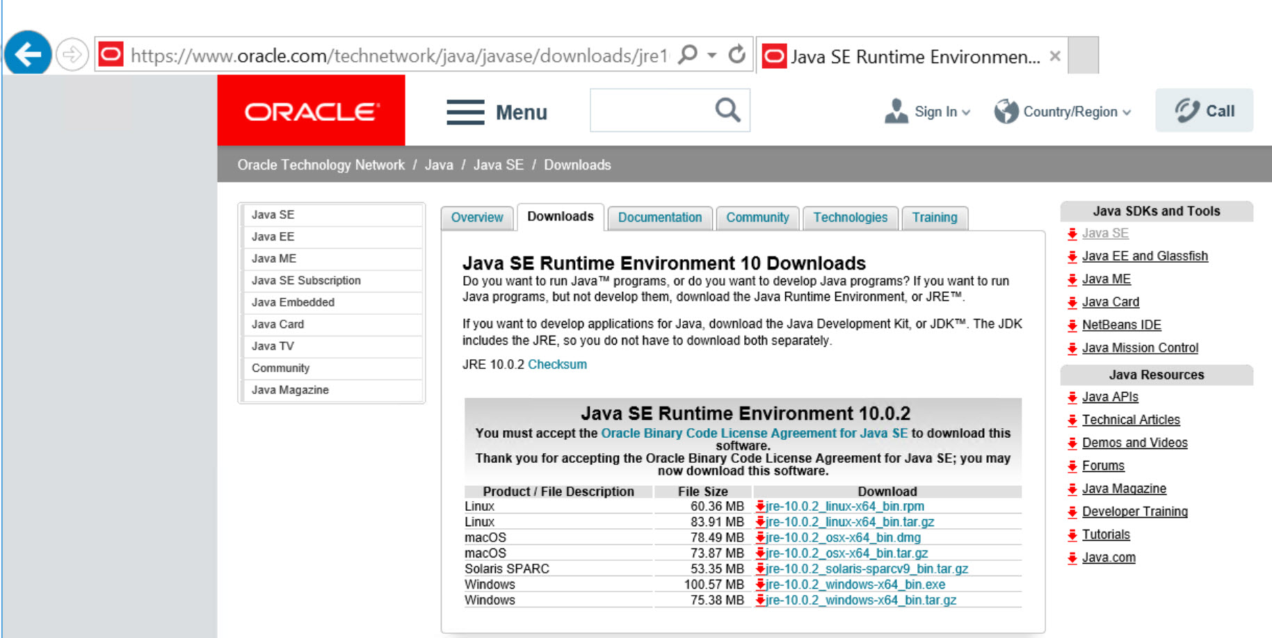 SQL SERVER 2019 - Oracle JRE 7 Update 51 (64 Bit) or Higher