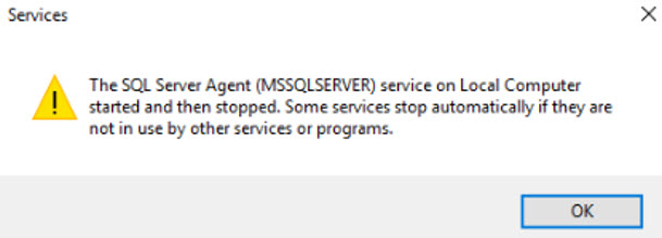 SQL SERVER - SQL Server Agent Not Starting - Failed to Initialize SQL Agent Log (Reason: Access is Denied). sqlagt-error-01