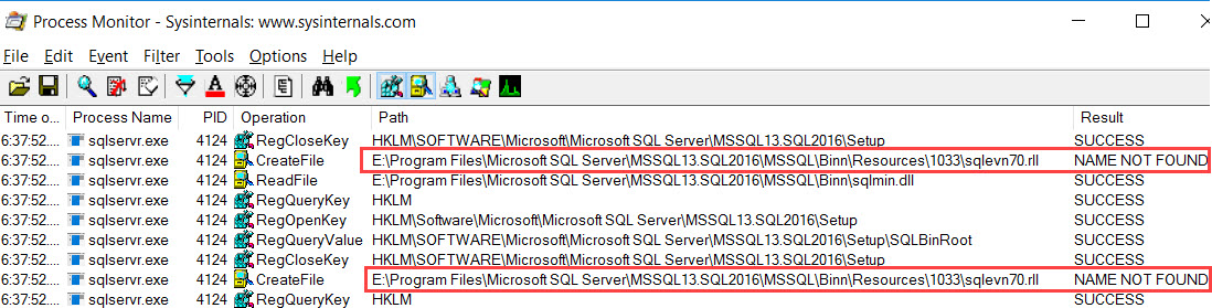 SQL SERVER - Startup Error - Your SQL Server Installation is Either Corrupt or Has Been Tampered With sqlenv70-02