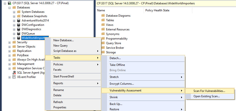 SQL SERVER - SQL Vulnerability Assessment - Security Analysis sqlvulnerability1