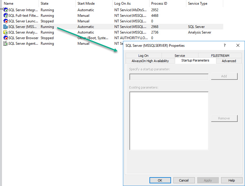 SQL SERVER - Empty Startup Parameters in SQL Server Configuration Manager sscm-param-01