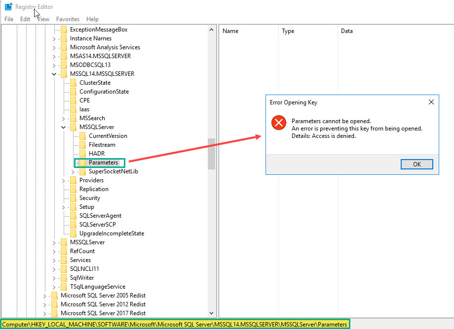 SQL SERVER - Empty Startup Parameters in SQL Server Configuration Manager sscm-param-02