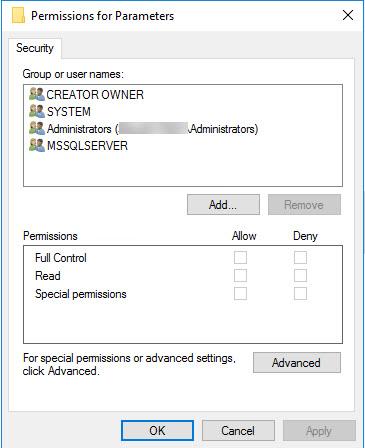 SQL SERVER - Empty Startup Parameters in SQL Server Configuration Manager sscm-param-03