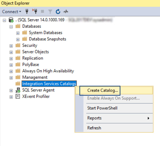 SQL SERVER - Create Catalog Error 911: Database 'SSISDB' Does Not Exist. Make Sure That he name is entered correctly ssis-cat-02