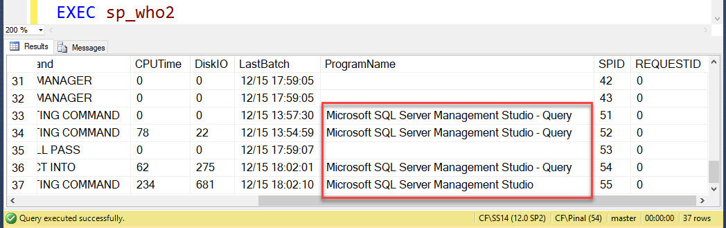 How to Identify Session Used by SQL Server Management Studio? - Interview Question of the Week #151 ssms-id