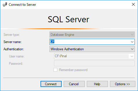 SQL SERVER - Connecting Specific Database on Starting SSMS ssmsconnect1
