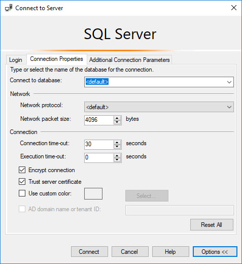 SQL SERVER - Connecting Specific Database on Starting SSMS ssmsconnect2