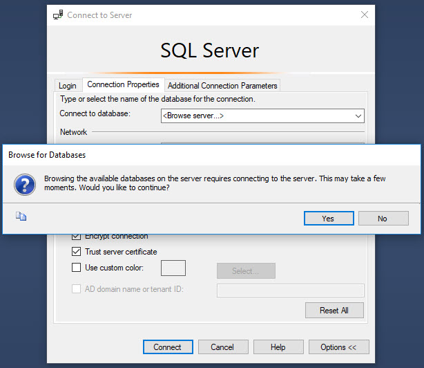 SQL SERVER - Connecting Specific Database on Starting SSMS ssmsconnect4