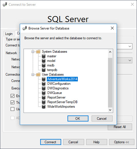 SQL SERVER - Connecting Specific Database on Starting SSMS ssmsconnect5