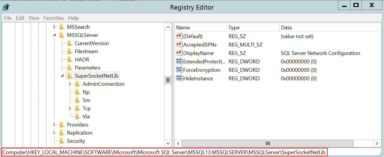 SQL SERVER - Unable to Start SQL Server - TDSSNIClient Initialization Failed with Error 0x2, Status Code 0x38 start-cert-01